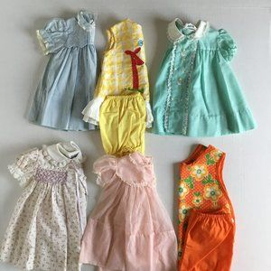Lot of 8 vintage girls dresses and tops